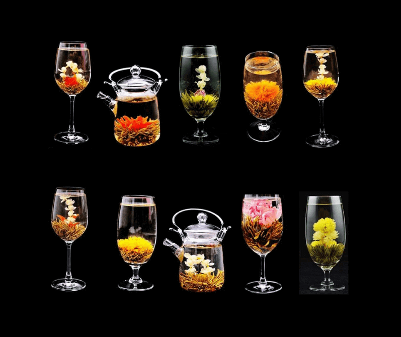 Blooming Tea with Varieties of Flowers