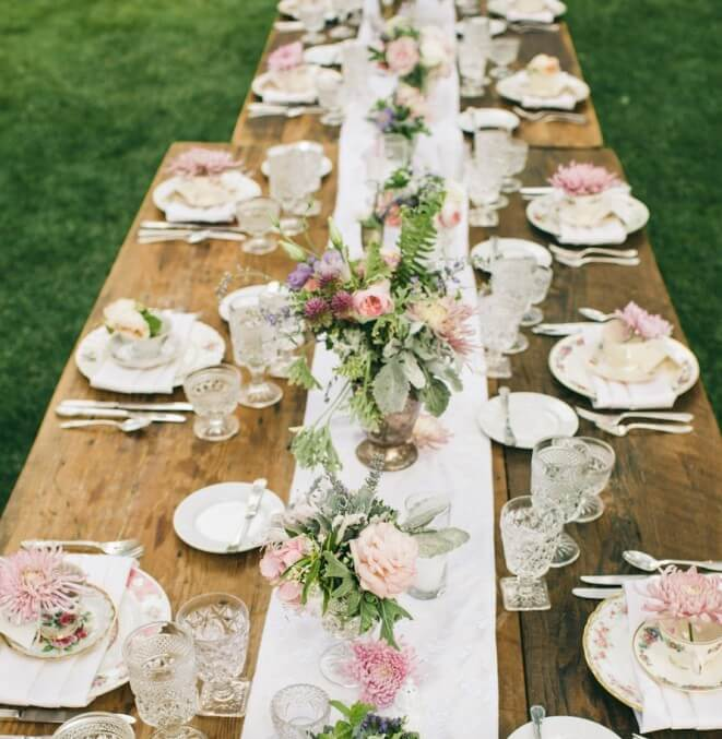 Table setup ideas for your elegant tea party