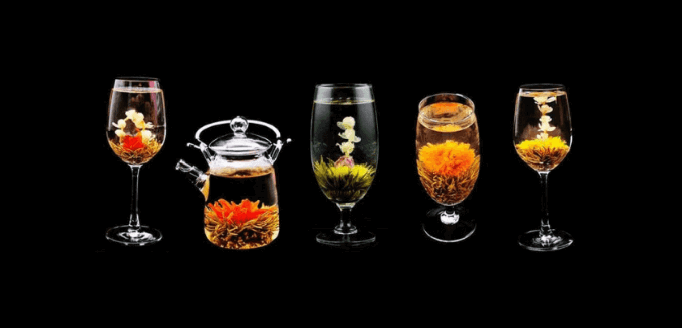what is blooming flower tea